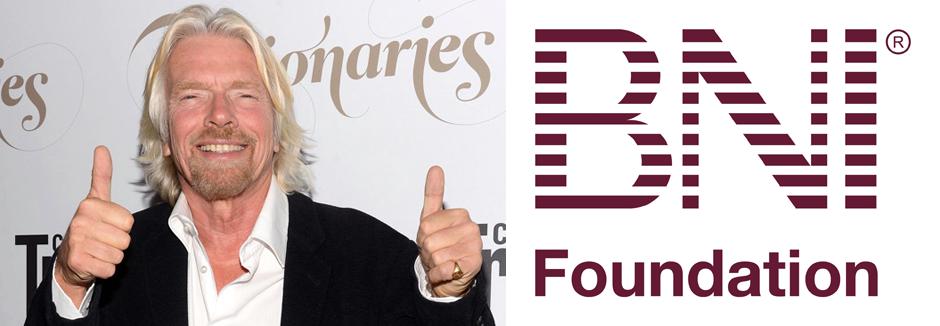 Programa social da BNI Foundation recebe aprovação de Sir Richard Branson, fundador da Virgin Records