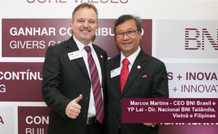 YP Lai, Diretor Nacional BNI Tailândia, Vietnã e Filipinas visita BNI Brasil