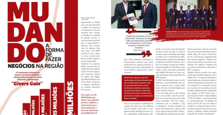 BNI Infinity é destaque na Revista Leve!