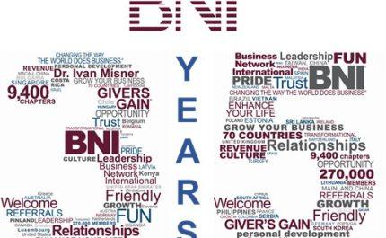 O BNI® comemora 35 anos nesta semana