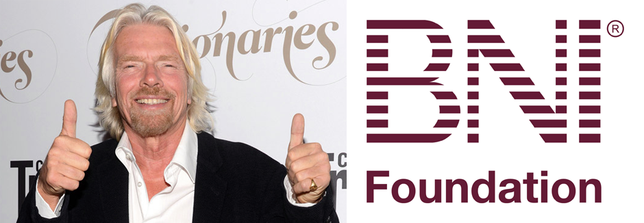 Programa social da BNI Foundation recebe aprovação de Sir Richard Branson, fundador da Virgin Records
