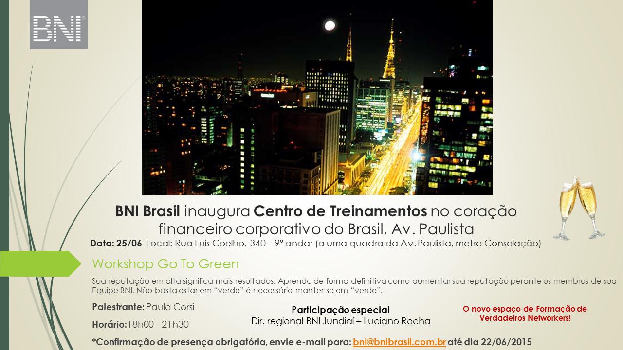 BNI Brasil inaugura Centro de Treinamentos em São Paulo