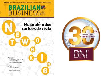 BNI Brasil no patamar de Excelência – Revista Brazilian Business, Câmera do Comércio Americano