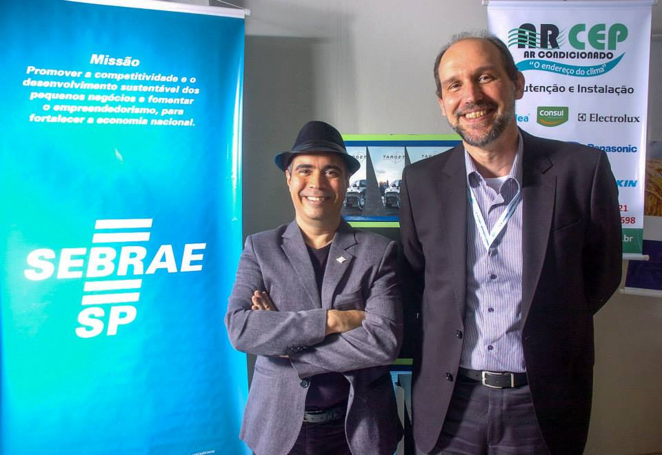 Dir. Paulo Corsi, BNI e Sérgio Gromik Gerente Regional, Sebrae Mogi das Cruzes