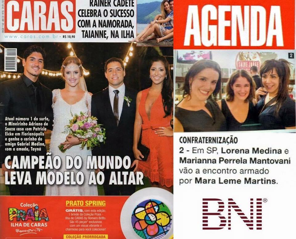 Mara Leme Martins Phd, recebe amigos do BNI Brasil e BNI México – Revista Caras prestigia