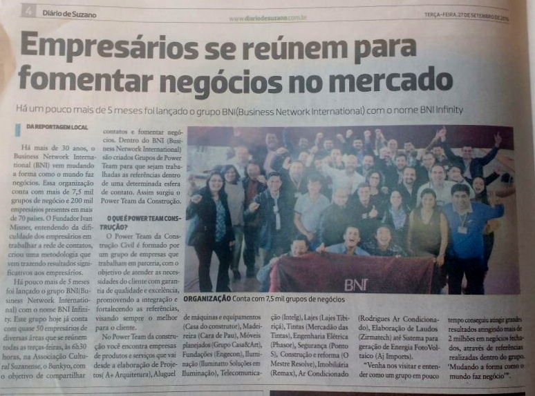 Via Diário de Suzano – Empresários se reúnem para fomentar negócios no mercado