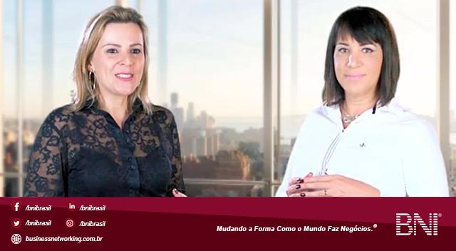 Mara Leme Martins, VP BNI Brasil, conversa com Alessandra Paulillo, Presidente do BNI Innovation, São Carlos