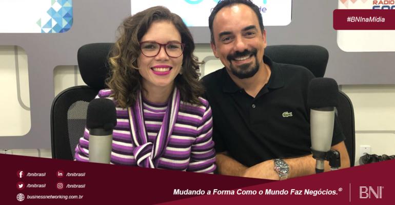 Alexandre Mantovani, Diretor Executivo do BNI Salvador participa de entrevista para a Rádio Sociedade da Bahia