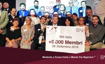 BNI Itália ultrapassa os 8 mil membros!